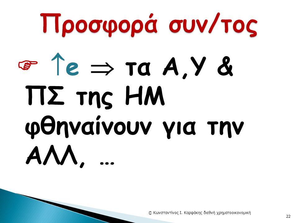   e  τα Α,Υ & ΠΣ της ΗΜ φθηναίνουν για την ΑΛΛ, … © Κωνσταντίνος Ι. Καρφάκης διεθνή χρηματοοικονομική 22