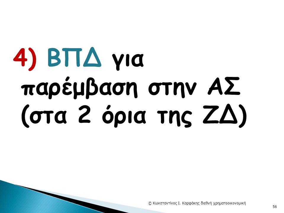 4) ΒΠΔ για παρέμβαση στην ΑΣ (στα 2 όρια της ΖΔ) © Κωνσταντίνος Ι. Καρφάκης διεθνή χρηματοοικονομική 56