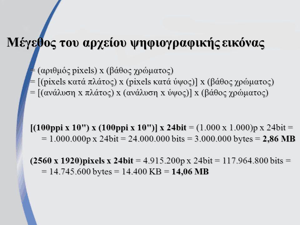 β. Χαρτογραφικές ή ψηφιογραφικές εικόνες (bitmap graphics) -Την ψηφιοποίηση εικόνων μέσω σαρωτή -Τις ψηφιακές φωτογραφικές και εικονοληπτικές μηχανές
