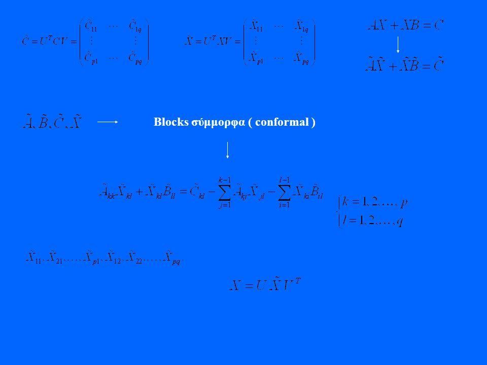 Blocks σύμμορφα ( conformal )