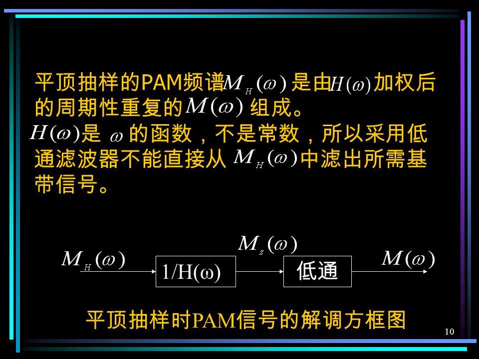 9 × 脉冲形成电路 平顶抽样信号的产生