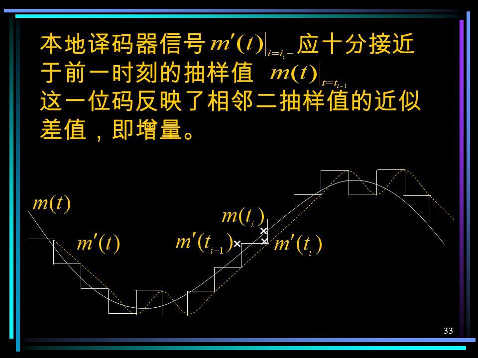 32 相减器判决器 + 检测器 积分器 低通 本地 译码器 脉冲源 给定抽样时刻 反之