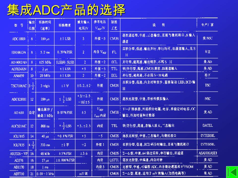 集成 ADC 产品的选择