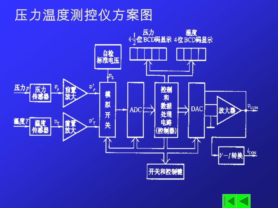 压力温度测控仪方案图