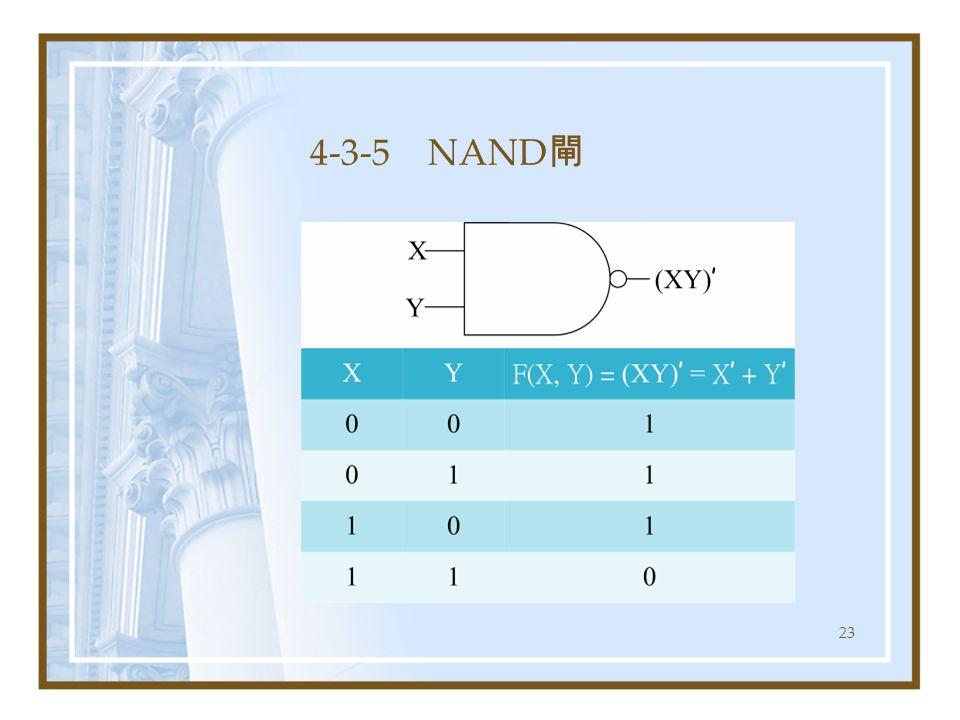 23 4-3-5 NAND 閘