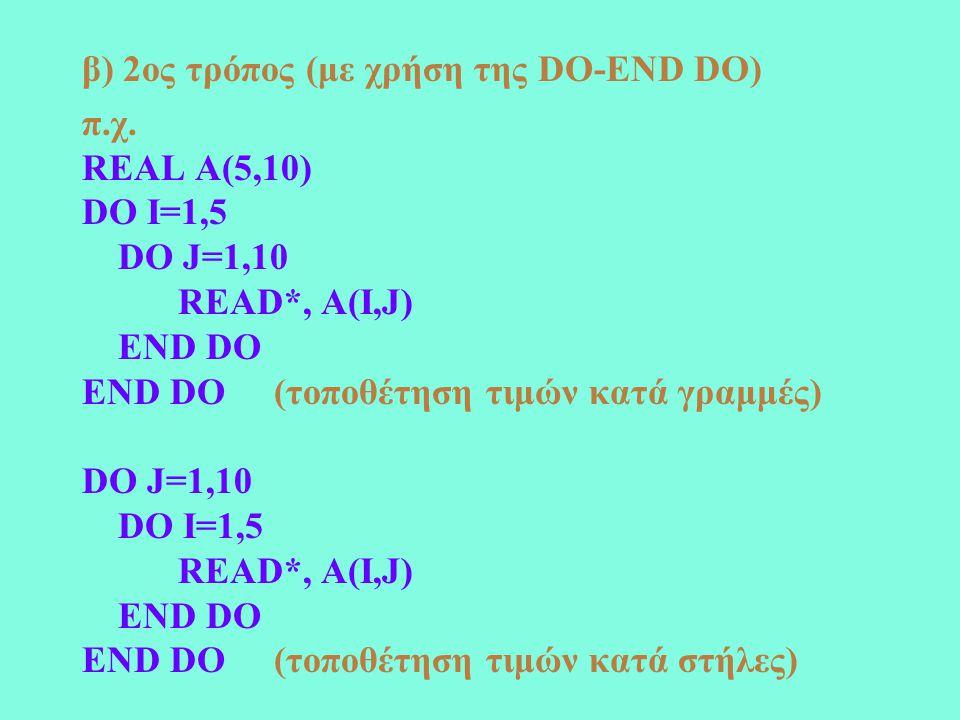 PROGRAM MATRIX IMPLICIT NONE INTEGER N,I,J REAL, ALLOCATABLE::A(:,:) READ*, N ALLOCATE (A(N,N)) READ*, ((A(I,J), J=1,N),I=1,N) DO I=1,N DO J=1,N IF (A(I,J)/=A(I,J)) GOTO 10 END DO GOTO 20 10 PRINT*, 'O PINAKAS DEN EINAI & SYMMETRIKOS' GOTO 30 20 PRINT*, 'O PINAKAS EINAI & SYMMETRIKOS' 30 END PROGRAM MATRIX