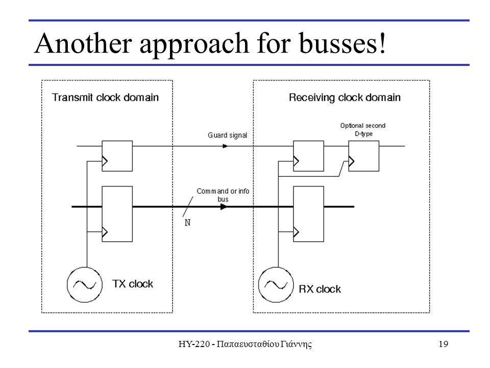 ΗΥ-220 - Παπαευσταθίου Γιάννης19 Another approach for busses!