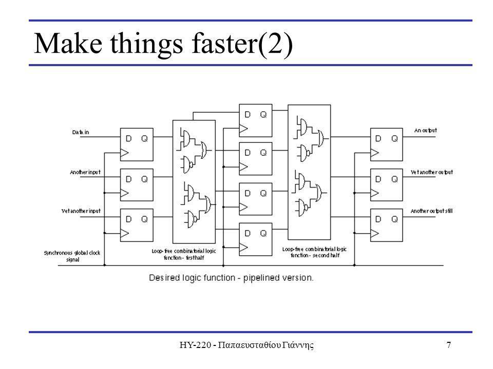 ΗΥ-220 - Παπαευσταθίου Γιάννης7 Make things faster(2)