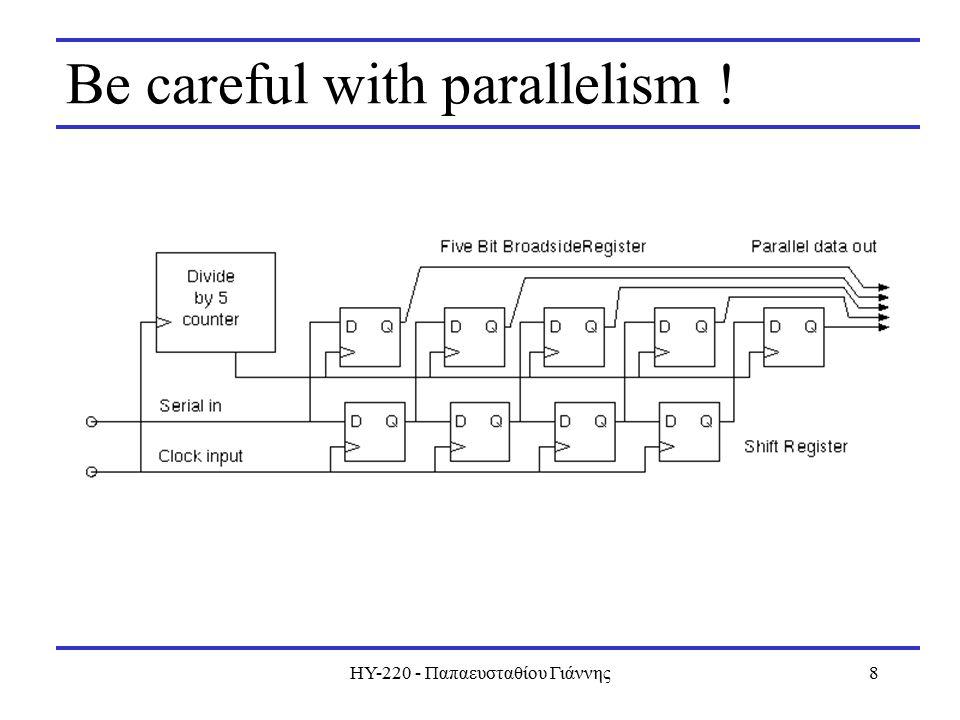 ΗΥ-220 - Παπαευσταθίου Γιάννης8 Be careful with parallelism !