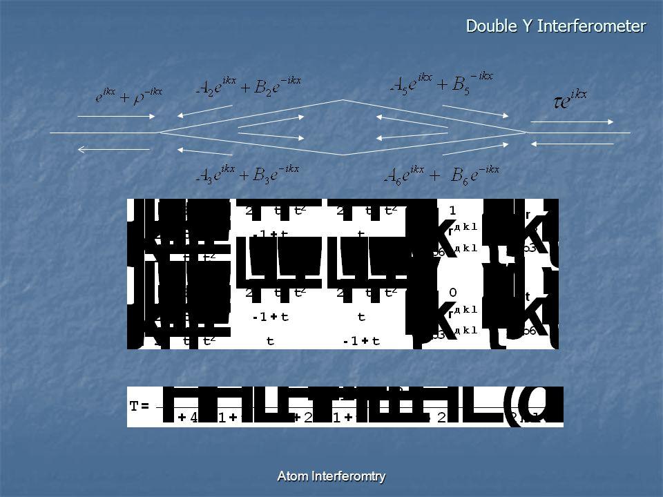 Atom Interferomtry Double Y Interferometer