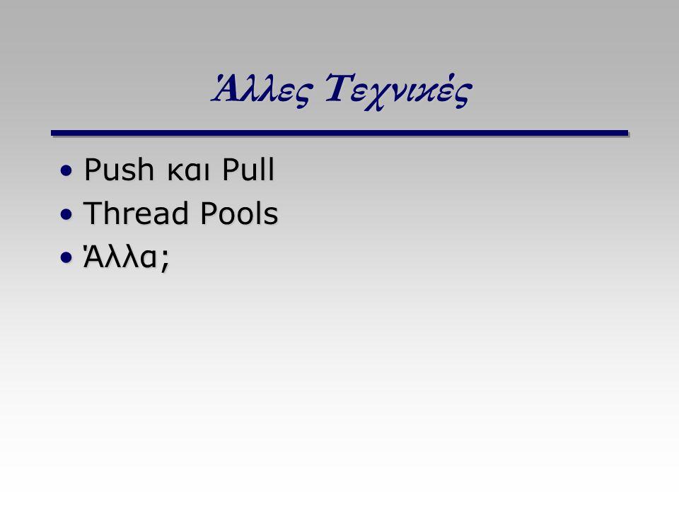 Άλλες Τεχνικές Push και PullPush και Pull Thread PoolsThread Pools Άλλα;Άλλα;