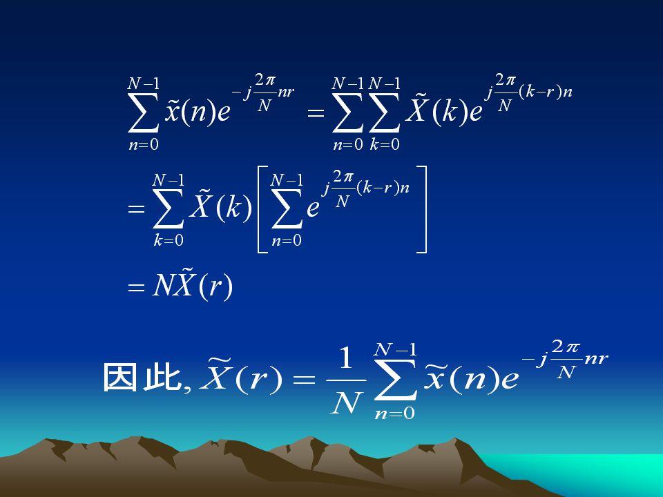 2. 的表达式 将式 的两端乘 ,然后从 n=0 到 N-1 求和, 则: