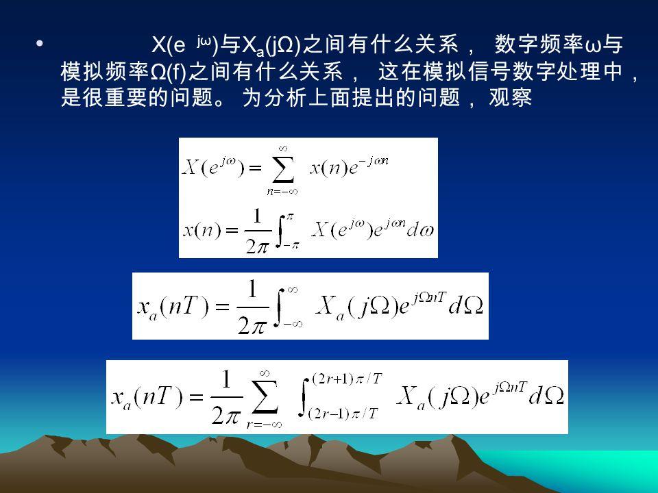 这里 t 与 Ω 的域均在 ±∞ 之间。 从模拟 信号幅度取值考虑, 在第一章中遇到两种信号, 即连续信号和采样信号, 它们之间的关系如下: