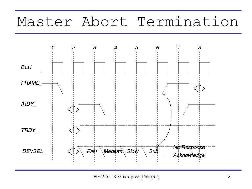 ΗΥ-220 - Καλοκαιρινός Γιώργος8 Master Abort Termination