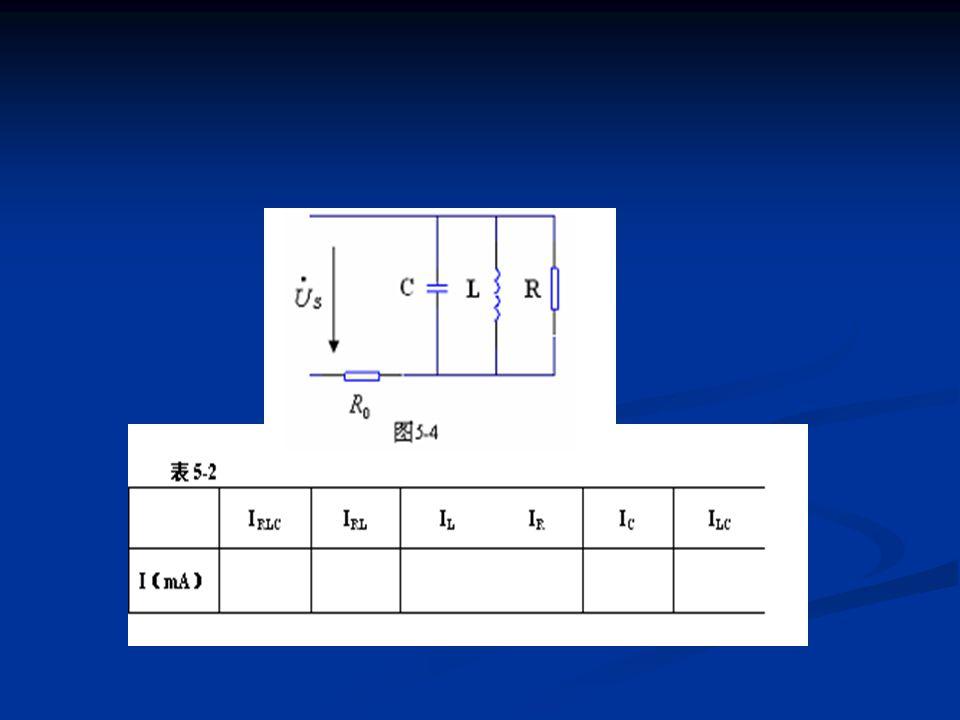 四、实验仪器 四、实验仪器 电工实验箱 TPE — DG 电工实验箱 TPE — DG 示波器 DC4322B 示波器 DC4322B 信号源 YB1638 信号源 YB1638 交流毫伏表 YB2172 交流毫伏表 YB2172 五、报告要求 五、报告要求 1 、实验目的 1 、实验目的 2 、原理简述 2 、原理简述 3 、实验内容:含实验步骤、实验电路、表格、数据等 3 、实验内容:含实验步骤、实验电路、表格、数据等 4 、整理并计算实验数据,检查数据是否与理论值相符,并加以解释 分析。 4 、整理并计算实验数据,检查数据是否与理论值相符,并加以解释 分析。 5 、画出 RC 串联, RL 串联, LC 并联电路的相量图。 ( 共 5 个 ) 5 、画出 RC 串联, RL 串联, LC 并联电路的相量图。 ( 共 5 个 ) 6 、当频率升高时,的变化趋势, cosφ 的变化趋势,画出相量图加以 说明。 6 、当频率升高时,的变化趋势, cosφ 的变化趋势,画出相量图加以 说明。 六、思考题 六、思考题 1 、当 XL=XC=R 时 1 、当 XL=XC=R 时 ①流过 R 、 L 、 C 元件的电流相同吗? ①流过 R 、 L 、 C 元件的电流相同吗? ②仅是 R 、 L 并联时其电流大小是否小于 LRC 并连时的电流? ②仅是 R 、 L 并联时其电流大小是否小于 LRC 并连时的电流? ③ LC 并联时的电流一定大于仅接 C 时的电流吗?以上三点根据测量数 据画山相量加以说明。 ③ LC 并联时的电流一定大于仅接 C 时的电流吗?以上三点根据测量数 据画山相量加以说明。