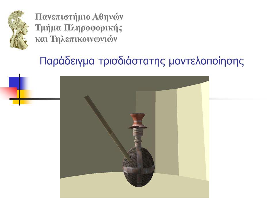 Παράδειγμα τρισδιάστατης μοντελοποίησης Πανεπιστήμιο Αθηνών Τμήμα Πληροφορικής και Τηλεπικοινωνιών
