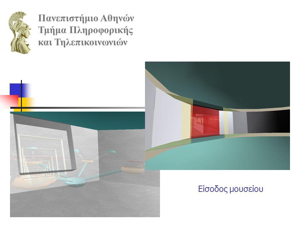 Είσοδος μουσείου Πανεπιστήμιο Αθηνών Τμήμα Πληροφορικής και Τηλεπικοινωνιών