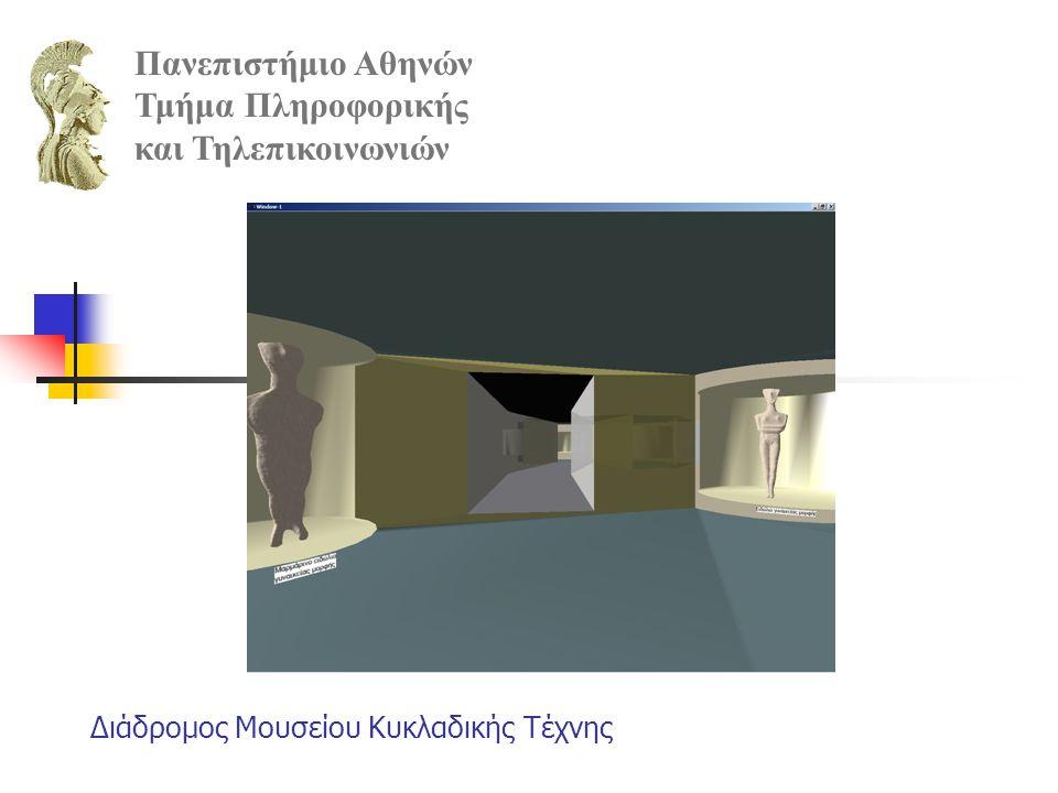 Διάδρομος Μουσείου Κυκλαδικής Τέχνης Πανεπιστήμιο Αθηνών Τμήμα Πληροφορικής και Τηλεπικοινωνιών