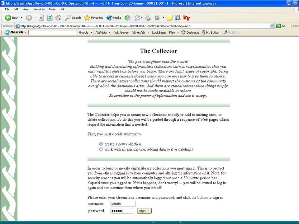 Greenstone Digital Library Greenstone