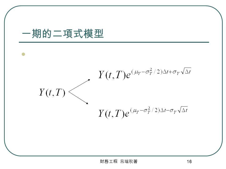 財務工程 呂瑞秋著 16 一期的二項式模型