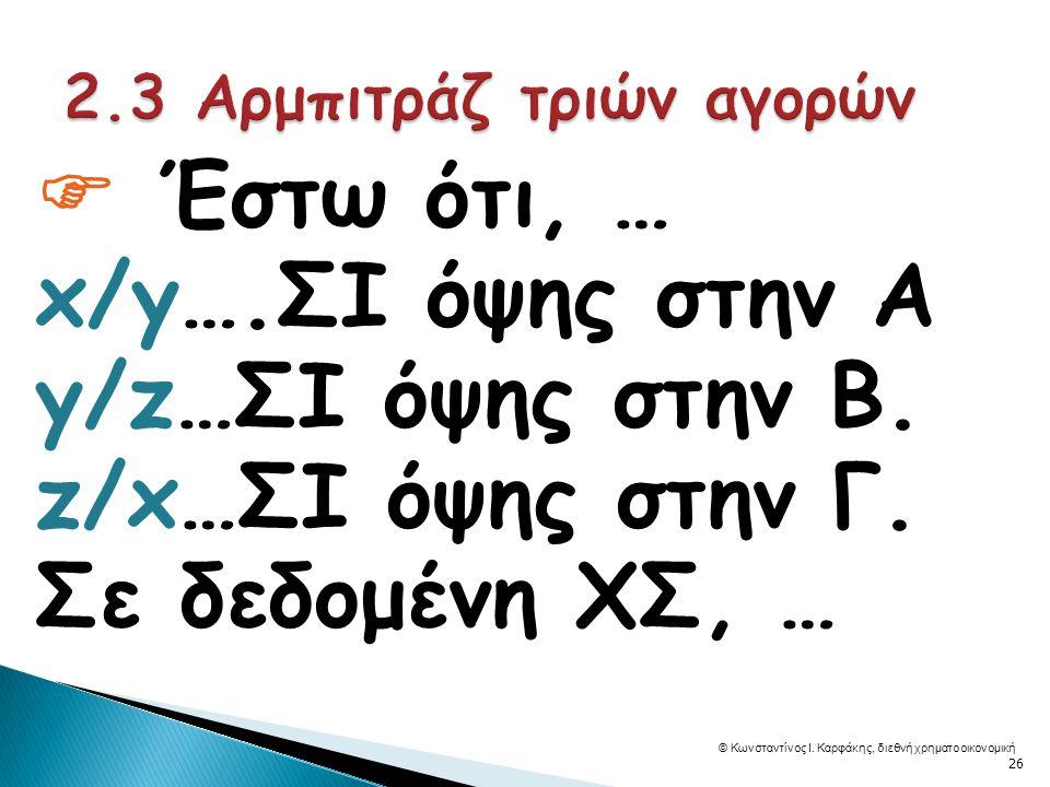  Έστω ότι, … x/y….ΣΙ όψης στην Α y/z…ΣΙ όψης στην Β.