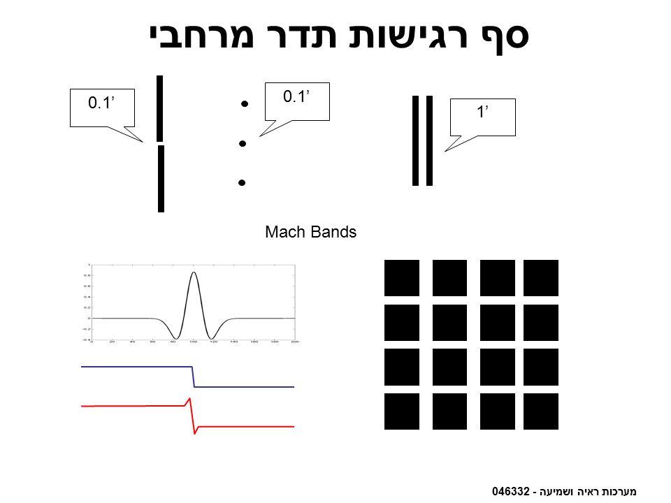 מערכות ראיה ושמיעה - 046332 סף רגישות תדר מרחבי 1' 0.1' Mach Bands