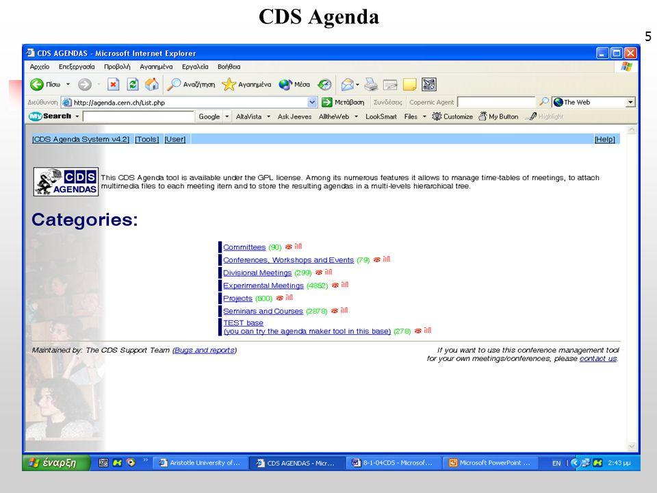 5 CDS Agenda