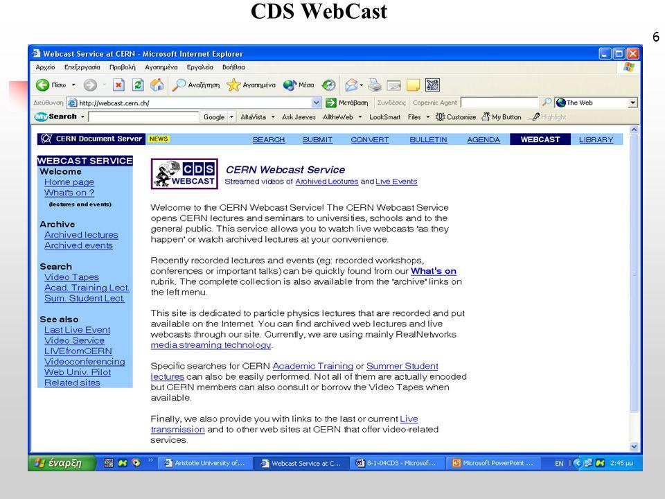 6 CDS WebCast