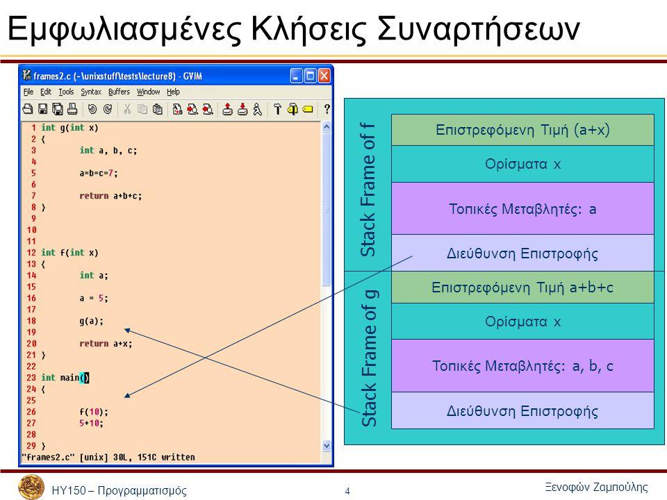 ΗΥ150 – Προγραμματισμός Ξενοφών Ζαμπούλης 35 Άλλα παραδείγματα Πως θα λύναμε αναδρομικά – Υπολογισμός συναρτήσεων που δίδονται από αναδρομική σχέση, λ.χ.