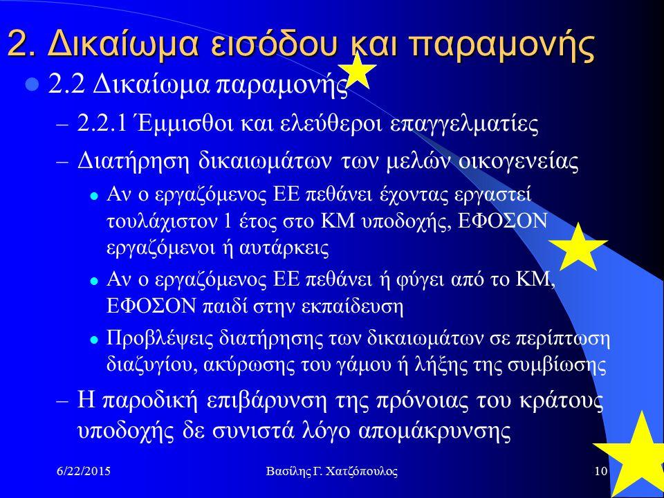 6/22/2015Βασίλης Γ. Χατζόπουλος10 2.