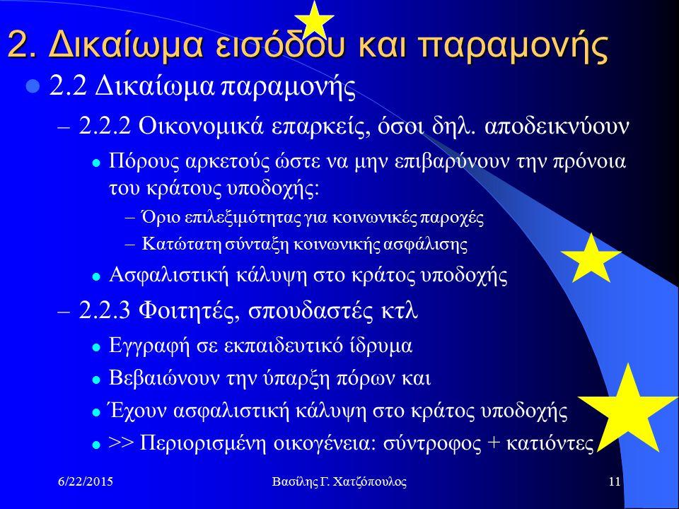 6/22/2015Βασίλης Γ. Χατζόπουλος11 2.