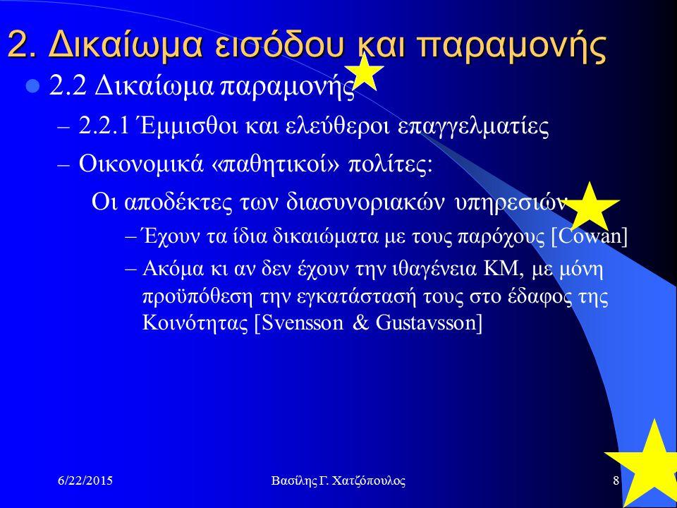 6/22/2015Βασίλης Γ. Χατζόπουλος8 2.