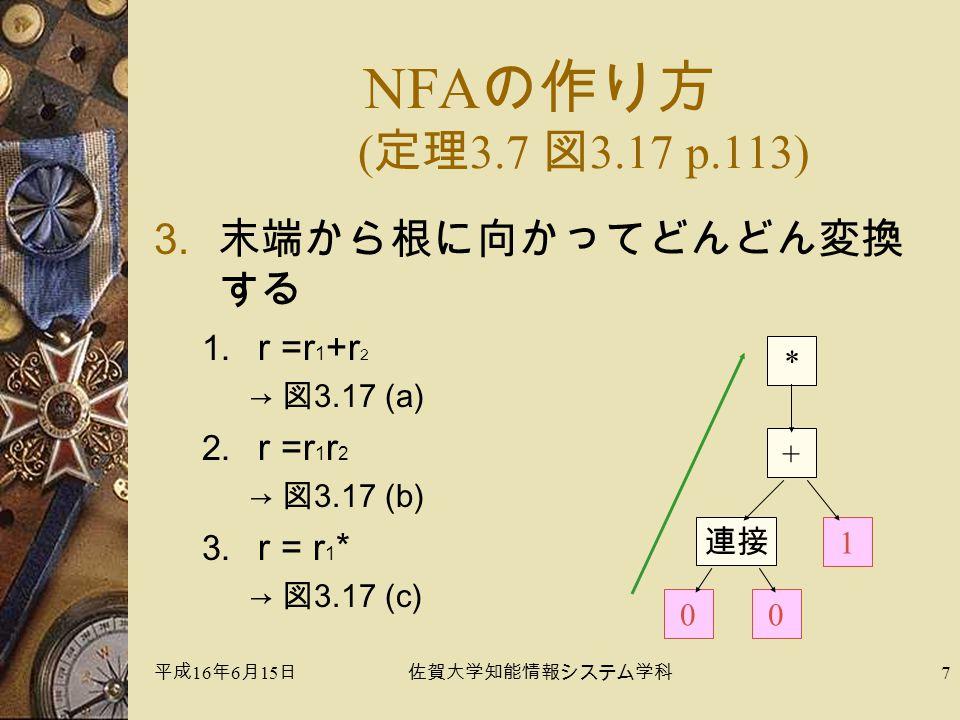 平成 16 年 6 月 15 日佐賀大学知能情報システム学科 7 3.末端から根に向かってどんどん変換 する 1.