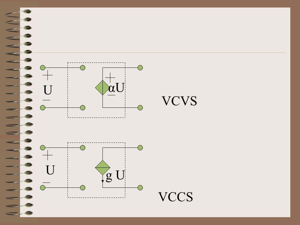 VCVS VCCS U U αU g U