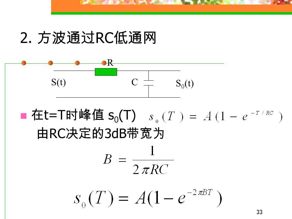 32 匹配 理想低通 RC 低通 1 0.825 0.815 0.2 0.685 BT 理想低通比匹配滤波器信噪比只降低 0.835dB, 有很好的近似结果