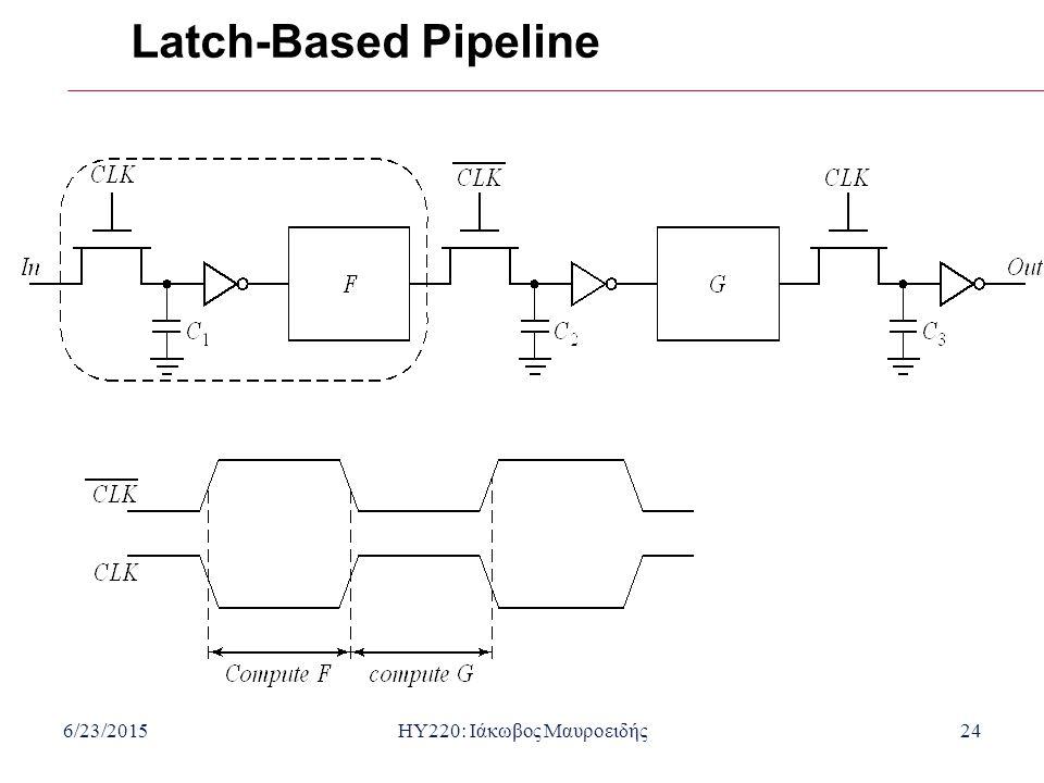 6/23/2015HY220: Ιάκωβος Μαυροειδής24 Latch-Based Pipeline