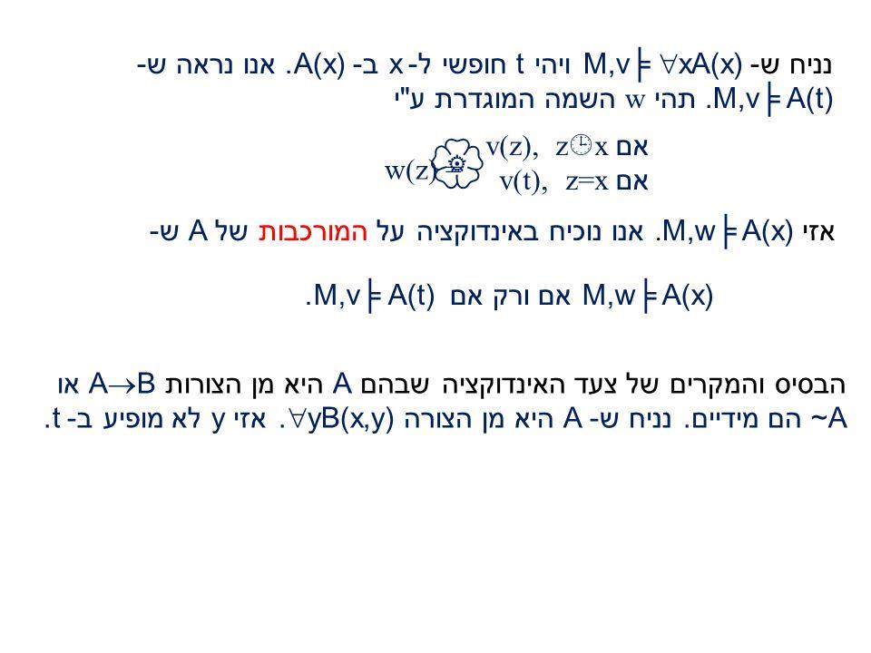 צעד האינדוקציה (לפי מקרים של צורת A): תהי A בצורה ~B.