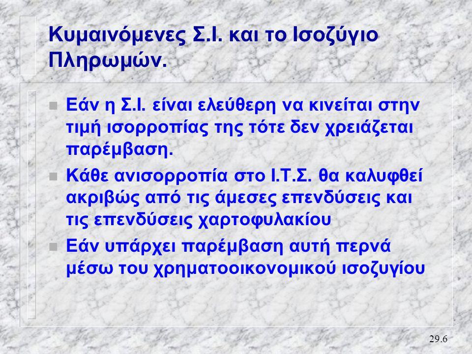 29.7 Διεθνής Ανταγωνιστικότητα n Η ανταγωνιστικότητα των Ελ.