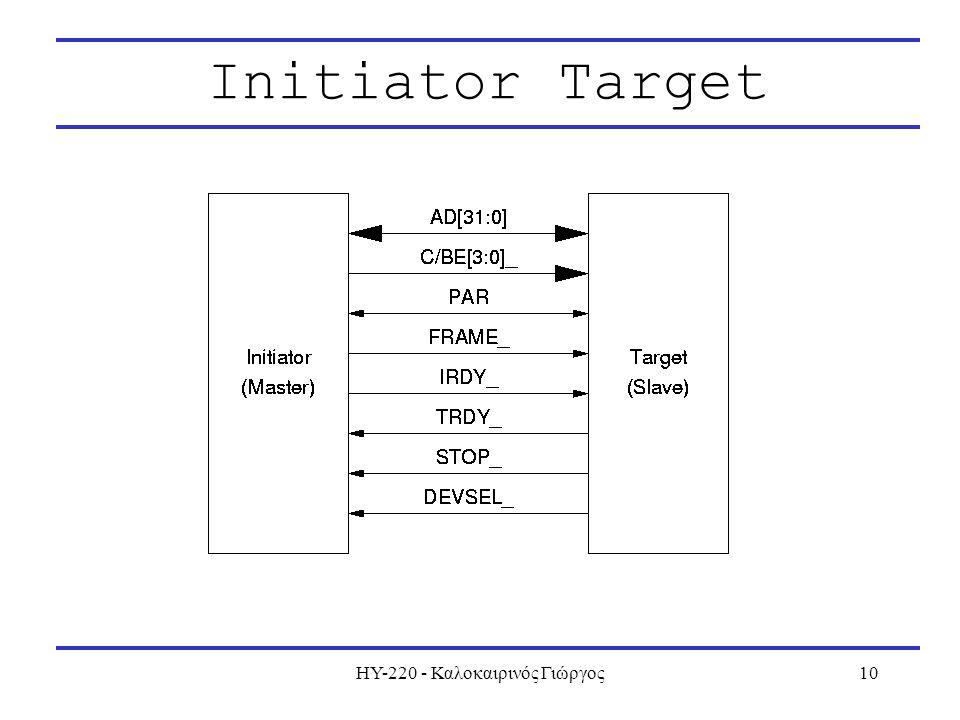ΗΥ-220 - Καλοκαιρινός Γιώργος10 Initiator Target