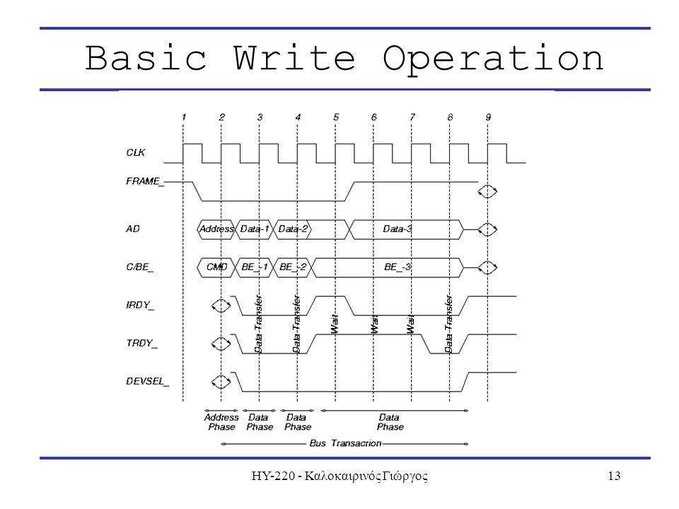ΗΥ-220 - Καλοκαιρινός Γιώργος13 Basic Write Operation