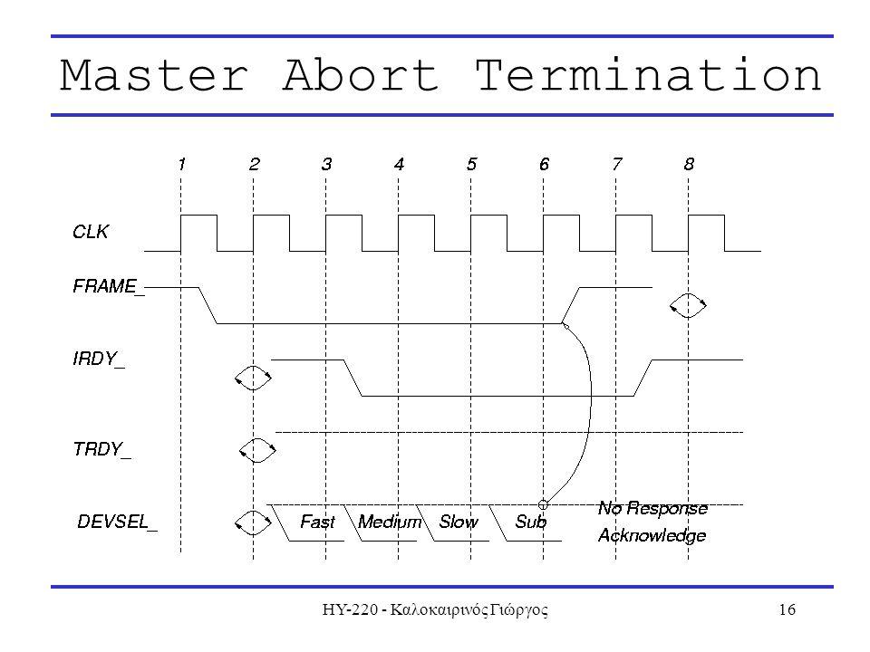 ΗΥ-220 - Καλοκαιρινός Γιώργος16 Master Abort Termination