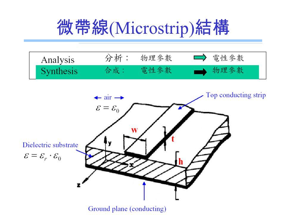 E.E. Dept., NSYSU 微帶線 (Microstrip) 結構