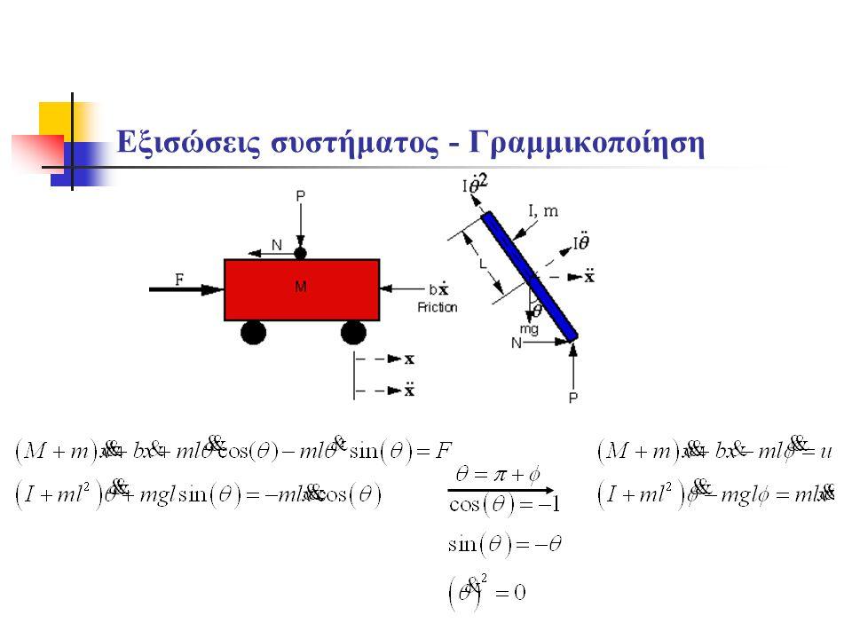 Εξισώσεις συστήματος - Γραμμικοποίηση