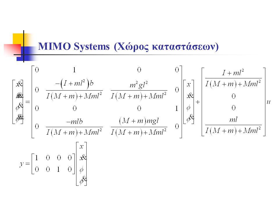 MIMO Systems (Χώρος καταστάσεων)