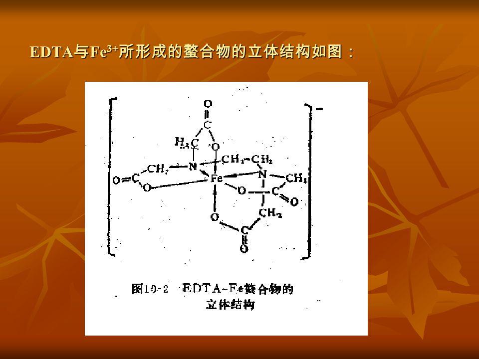 EDTA 与 Fe 3+ 所形成的螯合物的立体结构如图: