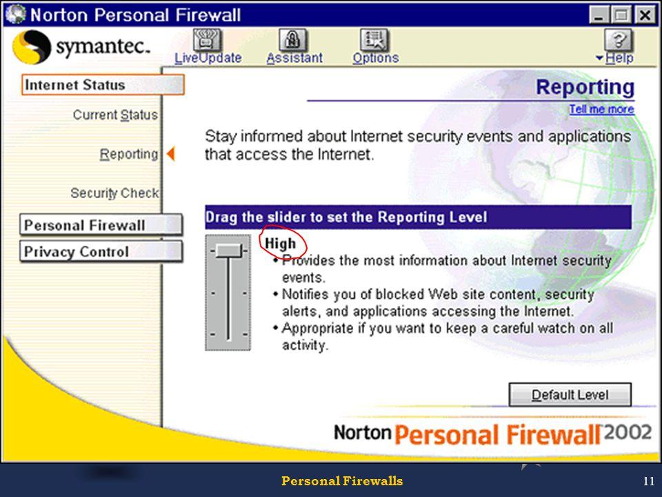 Personal Firewalls11