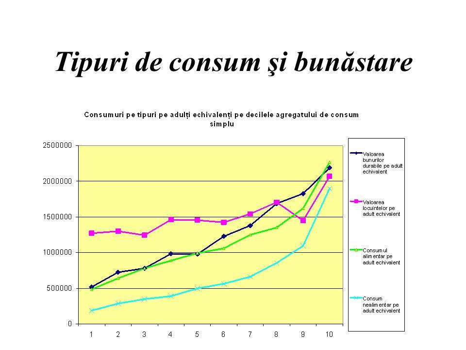 Tipuri de consum şi bunăstare