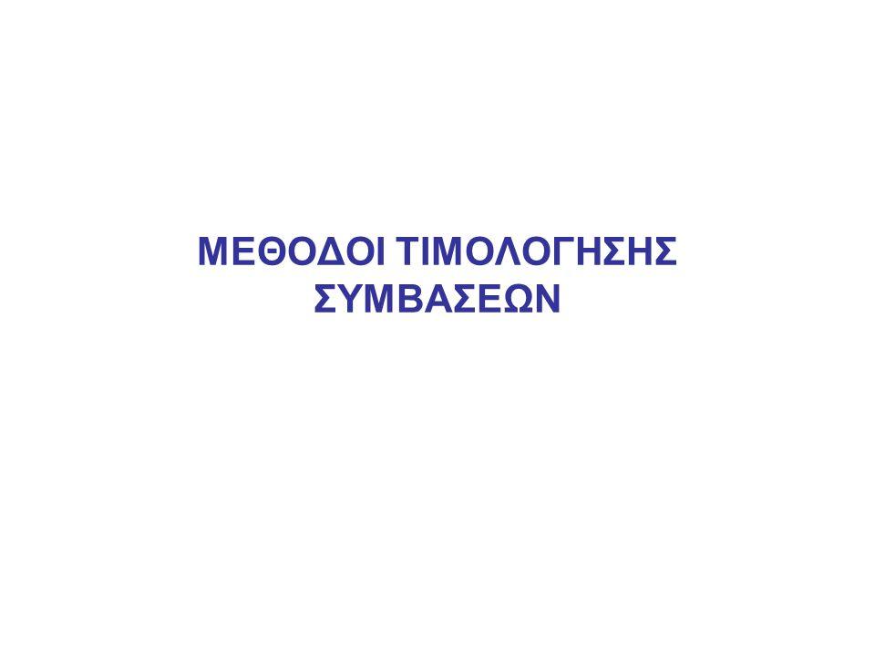 ΜΕΘΟΔΟΙ ΤΙΜΟΛΟΓΗΣΗΣ ΣΥΜΒΑΣΕΩΝ