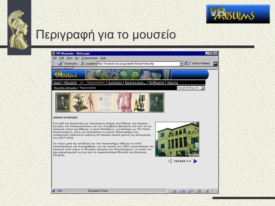 Περιγραφή για το μουσείο