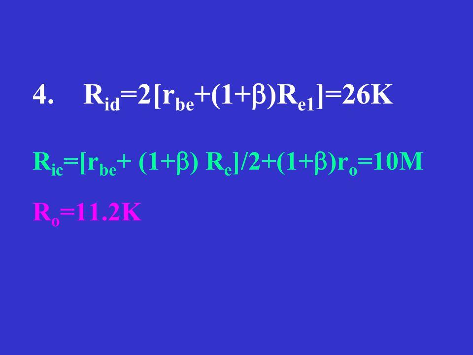 习题 6.2.3 1.I o =2mA, I c1 =I c2 =1mA, I B1 =I c1 /β=10μA, V ce =5V 2.Vo=A VD × ( v i1 -v i2 )= - 860mV ,式中: 3.R L =5.6K: